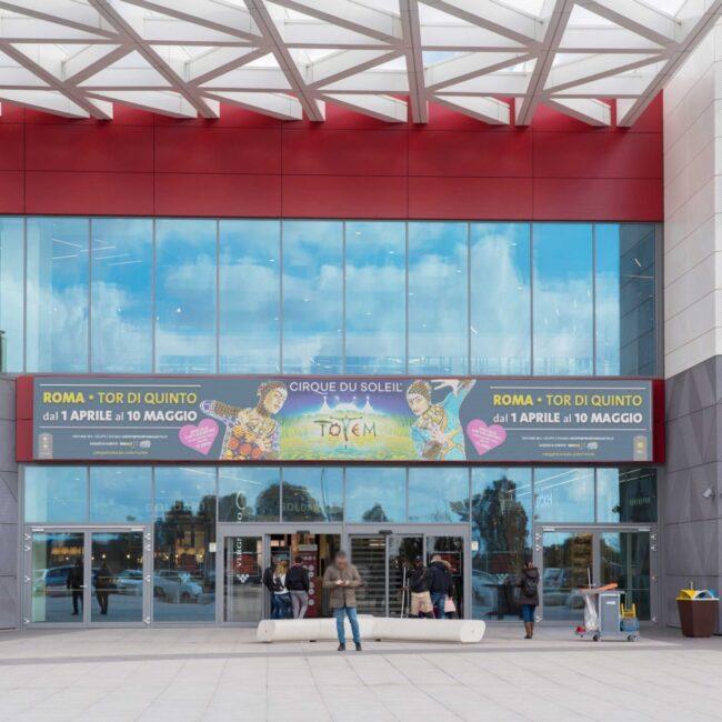 Campagna Pubblicitaria CIRQUE DU SOLEIL - centro commerciale Gran Roma