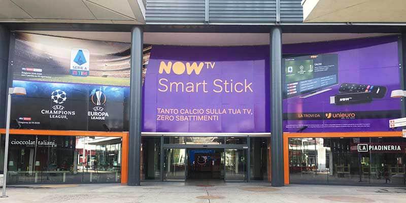 Campagna Pubblicitaria Now Tv centro commerciale Bicocca