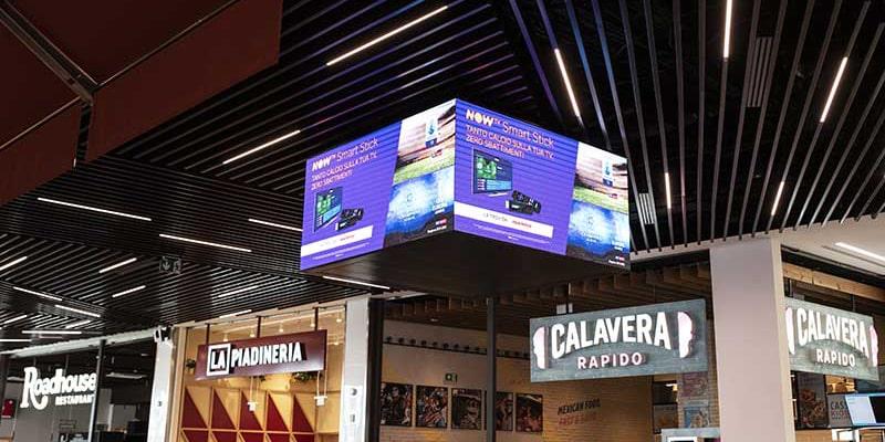 Campagna pubblicitaria NowTv- centro commerciale Gran Roma