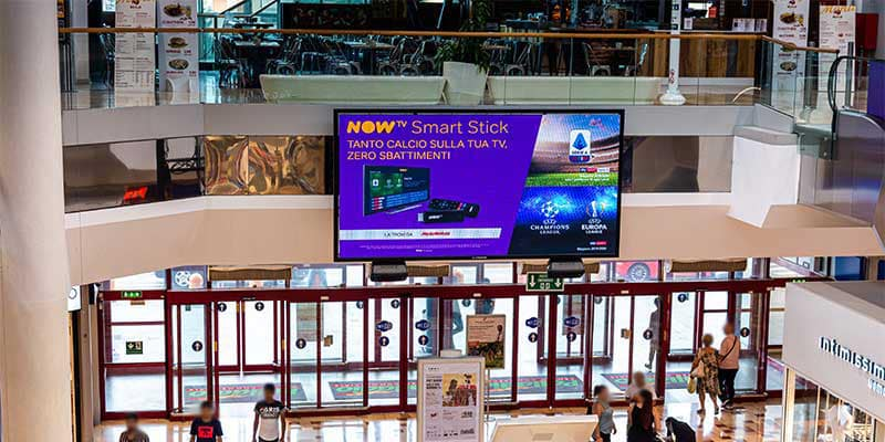 Campagna Pubblicitaria Now Tv centro commerciale Palladio