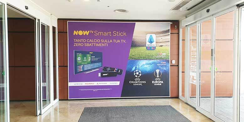 Campagna Pubblicitaria NowTv Centro Commerciale Campania
