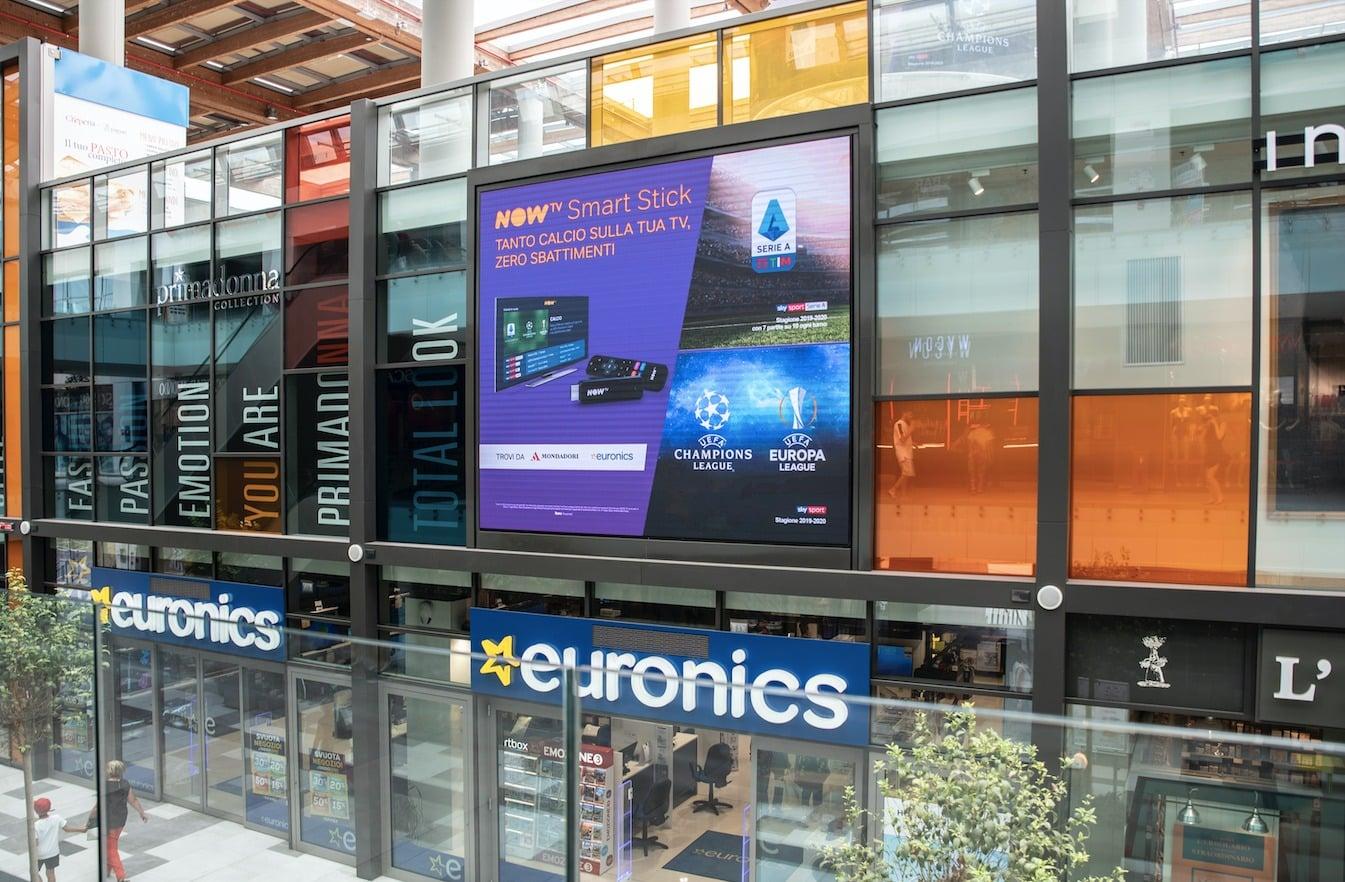Campagna Pubblicitaria Now Tv - Centro Commerciale Aura