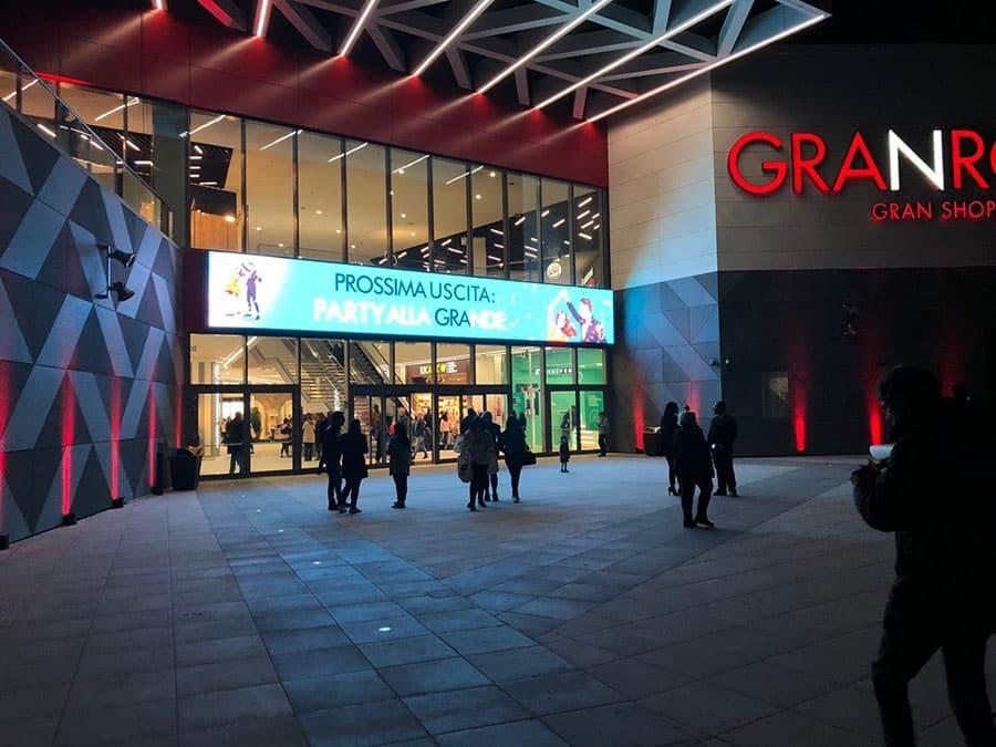 ledwall centro commerciale Gran Roma