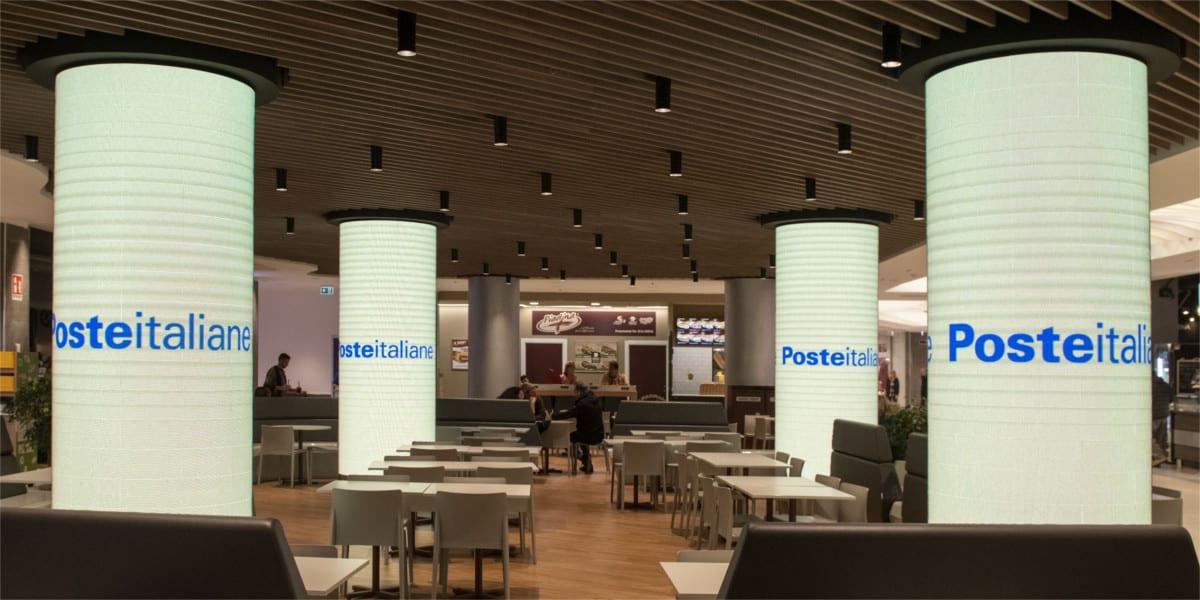 Campagna Pubblicitaria Poste Italiane centro commerciale Cospea