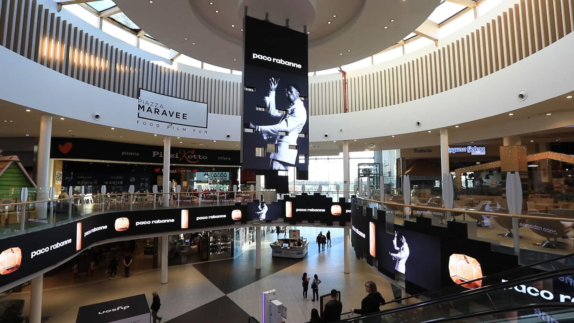 Campagna Pubblicitaria Paco Rabanne- Centro Commerciale Tiare Shopping