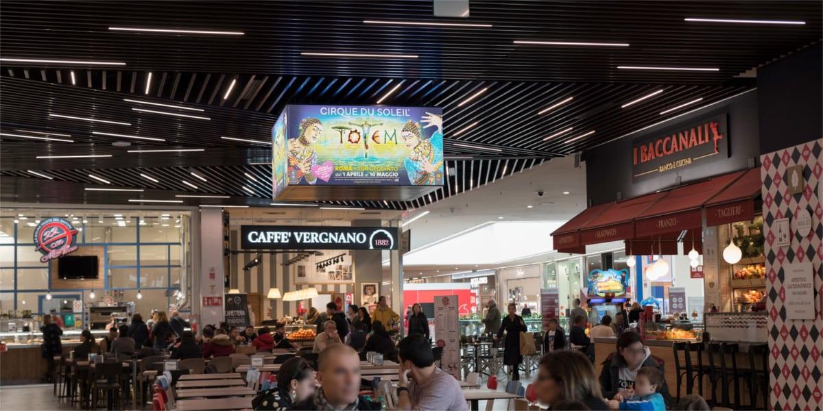 Campagna Pubblicitaria Vivo Concerti centro commerciale Gran Roma