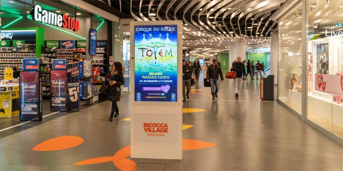 Campagna Pubblicitaria Vivo Concerti centro commerciale Bicocca Village