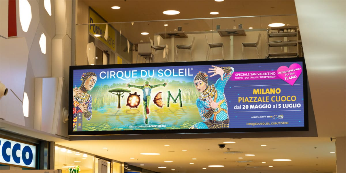 Campagna Pubblicitaria Vivo Concerti centro commerciale Sarca