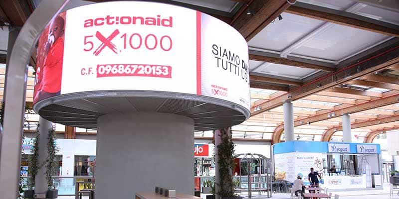 Campagna Pubblicitaria Action Aid - Centro Commerciale Aura