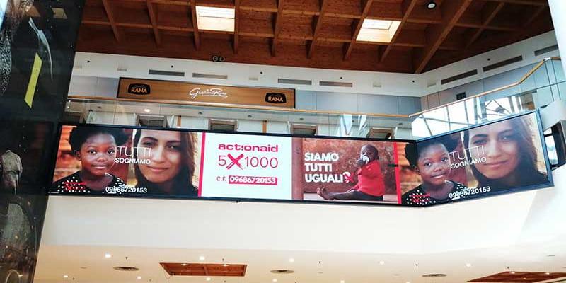 Campagna Pubblicitaria Action Aid - Centro Commerciale Palladio