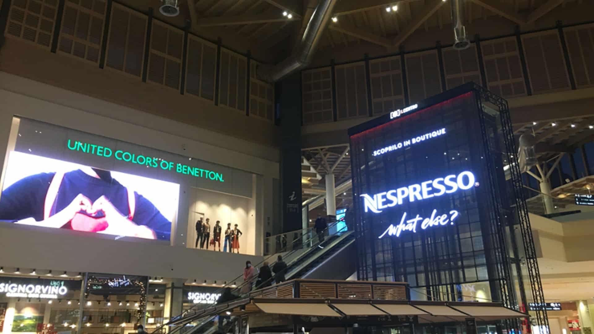 Nespresso Vertuo centro commerciale Il centro